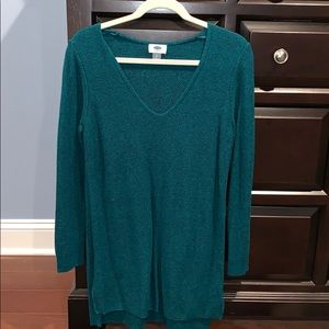 Old navy large women's tunic light sweater green